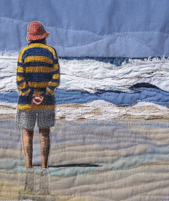 "Textile Art Quilt ""Looking Out"""