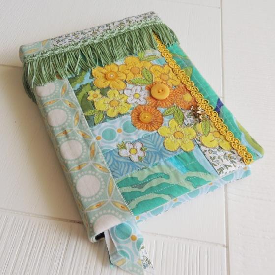 Art Journal quilted textile vintage bouquet